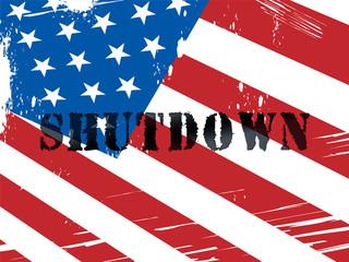 Usa Shutdown Word Political Government Shut Down Means National Furlough