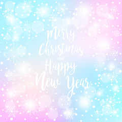 Vector Merry Christmas and New Year Greeting card