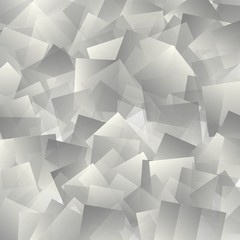 Abstract background from geometrical objects. The grey squares. Vector illustration. Eps 10.