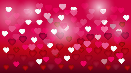 abstract pink heart bokeh background for Valentine s day