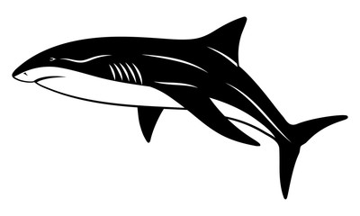 Vector shark in the form of a tattoo
