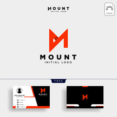 Unique letter M modern creative elegant luxurious and business card