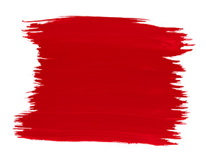 A fragment of the red color background painted with watercolors
