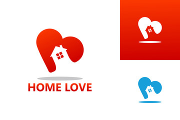 Home Love Logo Template Design Vector, Emblem, Design Concept, Creative Symbol, Icon