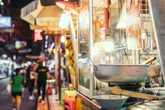 Street food in Bangkok, Thailand, Asia.