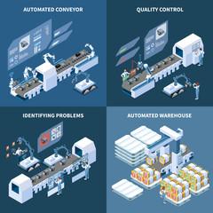 Intelligent Manufacturing Isometric Design Concept