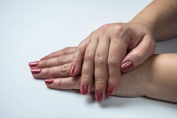 woomen's hands manikure