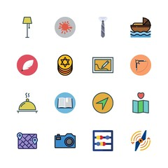 old icon set. vector set about quill, paint, supper and compass icons set.