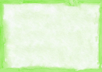 Rectangular regularly shaped light green watercolour background. Beautiful abstract canvas for congratulations, valentines designs, invitation cards,  engagements, postcards, text and etc