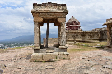 Dindigul, Tamilnadu, India - July 13, 2018: Dindigul Fort and Temple