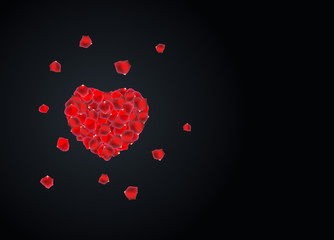 Valentine's Day Love and Feelings Background Design. Vector illustration