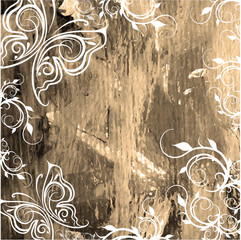 watercolor grunge background old canvas texture with pattern