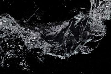 Water black background