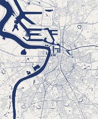 Stores à enrouleur Antwerp map of the city of Antwerp, Belgium