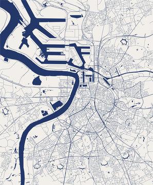 map of the city of Antwerp, Belgium