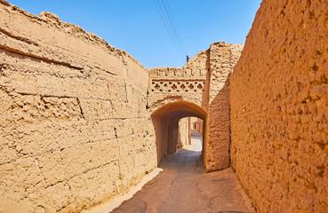 Adobe town of Yazd, Iran