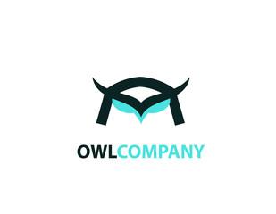 Owl head birld logo