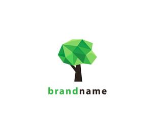 Geometric Tree logo design