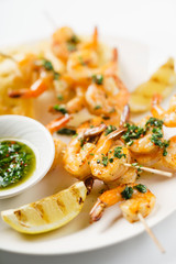 shrimp kebabs with aromatic oil
