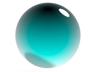 Aquamarine Sphere 3d Render Realistic Isolated
