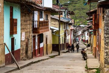 Il villaggio andino di Leymebamba, Perù