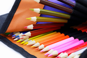pencils color or Crayons of different colors