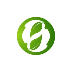 Eco friendly logo vector concept. Ecology logo. Eco Green icon graphic template. Eco symbol world green energy. Recycle sign. leaf logo