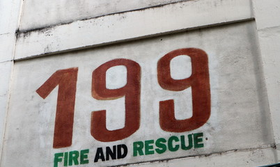 Fire and rescue wall tags
