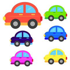 car cartoon or car Clipart cartoon  isolated on white background illustration