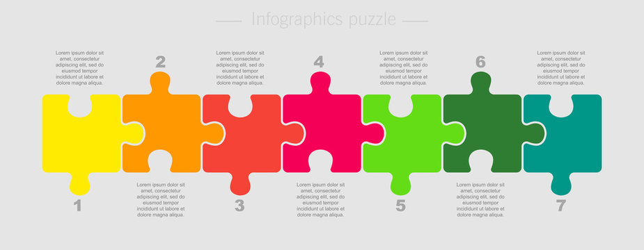 Puzzle Seven Pieces Part for Business Presentation