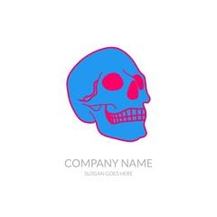 Skull Vector Icon Outline Community Business Company Stock Logo Design Template