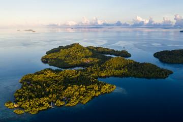 Aerial View of Island of Yangeffo in Raja Ampat