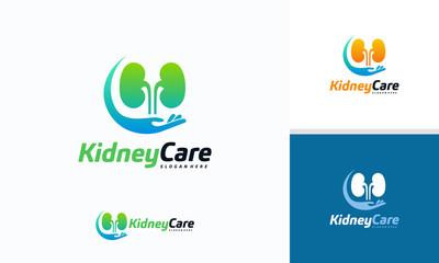 Kidney Care logo designs concept vector, Health Kidney logo template