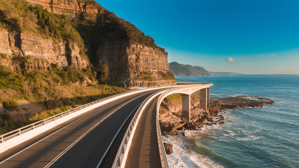 Scenic and sunny day on the Sea Cliff Bridge Wall mural