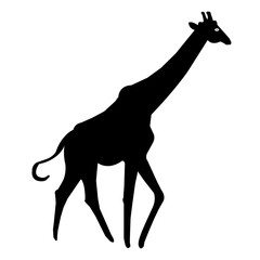Giraffe silhouette Vector icon