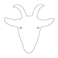 Goat Face outline Vector Icon Eps