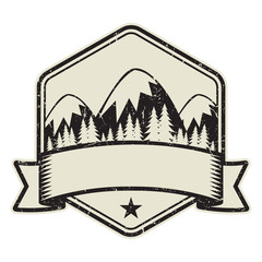 Mountain logo, stamp or symbol design
