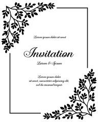 Flower ornament concept for invitation hand draw vector art