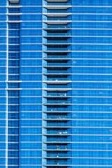uniform blue facade