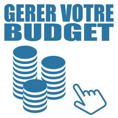 Obraz Logo gérer votre budget. - fototapety do salonu