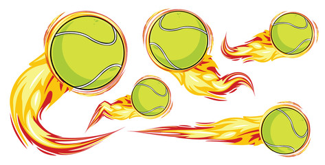 Tennis on the fire symbols speed set