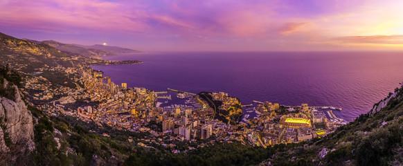 Printed roller blinds Nice Principauté de Monaco (coucher de soleil)