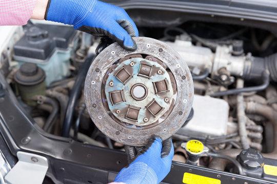 Old car clutch plate disc