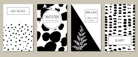 Monochrome greeting cards