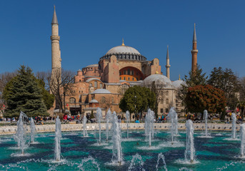 Istanbul, Turkey - Hagia Sofia is a former Greek Orthodox Christian cathedral, and one of the most recognizable landmarks in Istanbul