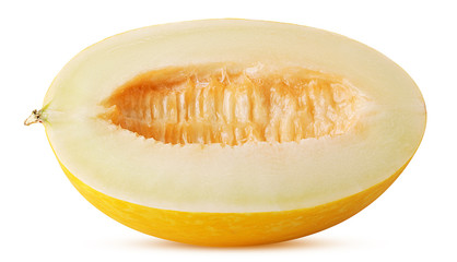 Yellow melon dukral cut in half
