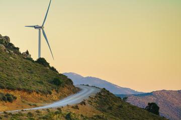 Windmill on Greek hills