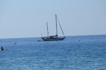 Urlaub am Meer - Segelboot