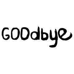 Lettering goodbye. Brush ink calligraphy word goodbye. Goodbye handwritten phrase.