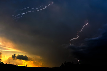 Sunset Urban Lightning
